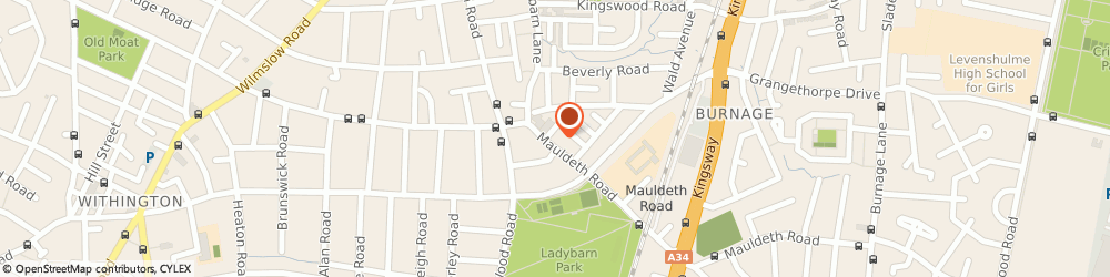 Route/map/directions to Twisted Hair and Beauty, M14 6SR Manchester, 115 Mauldeth road