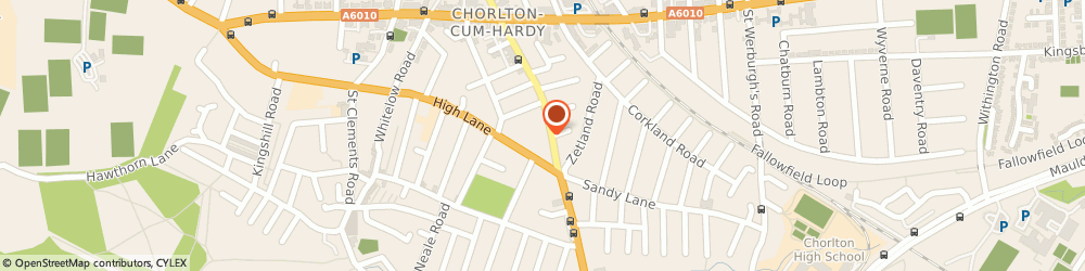 Route/map/directions to Chorlton Message Centre, M21 8AQ Manchester, 521A BARLOW MOOR ROAD