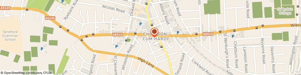 Route/map/directions to Fiona Gray Hypnotherapy, M21 9AF Manchester, 591 Wilbraham Road, Chorlton