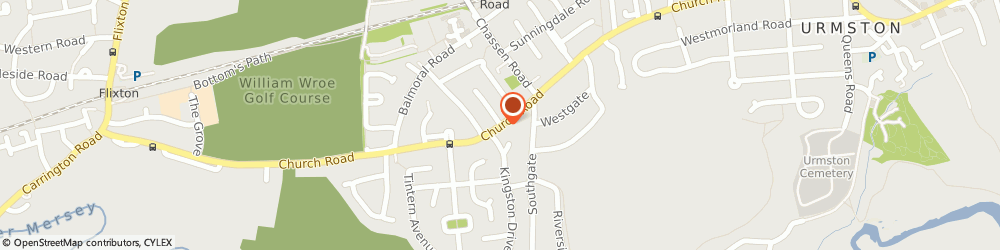 Route/map/directions to James Callaghan & Sons Co Ltd, M41 9FJ Manchester, 109 Church Rd