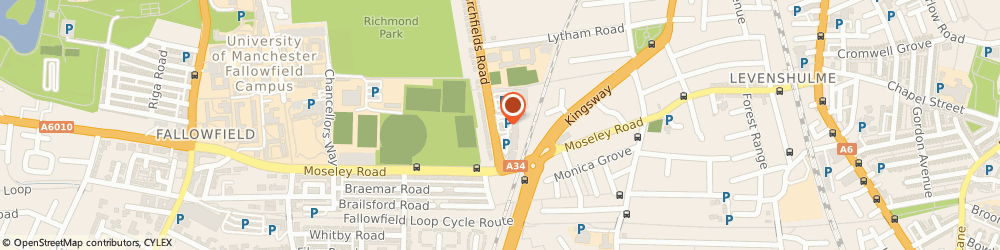Route/map/directions to Burger King, M14 6FS City Of Manchester, Unit J