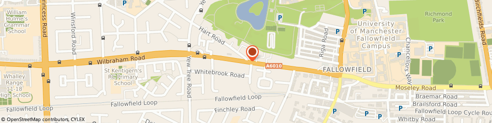Route/map/directions to JMH PAINTERS & DECORATORS LIMITED, M14 7DW Manchester, 28-30 WILBRAHAM RD