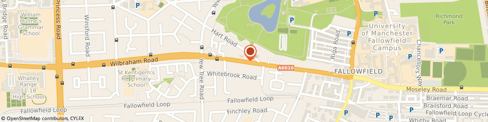 Route/map/directions to SPAR Euro Garage Fallowfield, M14 7DW Manchester, 32 , Wilbraham Road