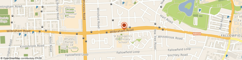 Route/map/directions to JB Plumbing and Heating, M14 7EN Manchester, 188 Wilbraham Road