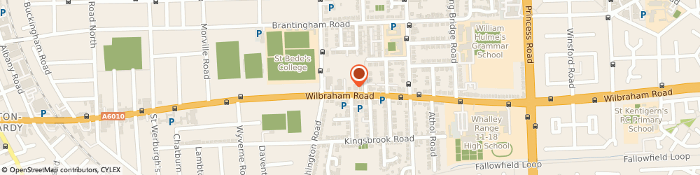 Route/map/directions to HC-One - Chorlton Place, M16 8LT Manchester, 290 Wilbraham Road