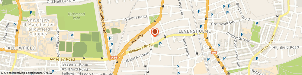 Route/map/directions to The Hair Shop, M19 2BY Manchester, 316 Slade Ln