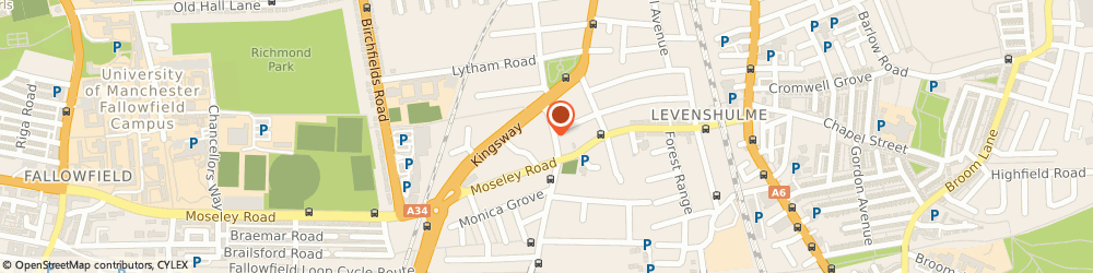 Route/map/directions to Brainworkx Tuition Centre, M19 2BY Manchester, 316 Slade Lane
