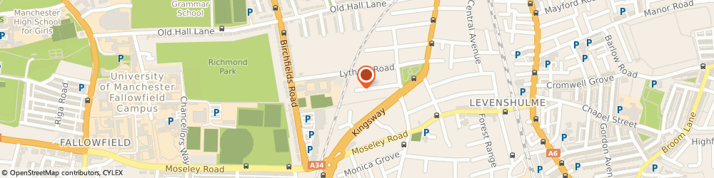 Route/map/directions to All Ears, M19 2DH Manchester, 48 KINGSWAY AVENUE