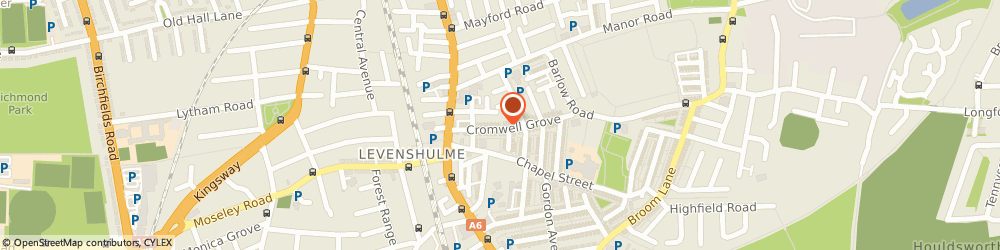 Route/map/directions to Barry C Dean, M19 3QD Manchester, 43A, Cromwell Grove, Levenshulme