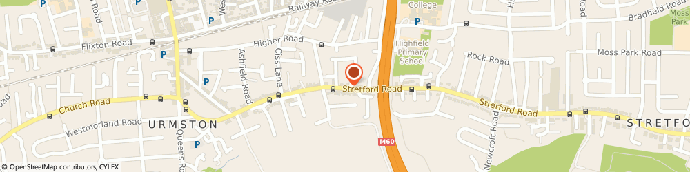 Route/map/directions to Up And Under, M41 9LZ Manchester, 151A Stretford Rd