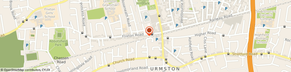 Route/map/directions to Urmston Carpets, M41 5AW Manchester, 35-39 Flixton Rd