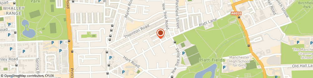 Route/map/directions to M.A. HOYSTED LTD, M14 7BP Manchester, 7 Brockley Avenue
