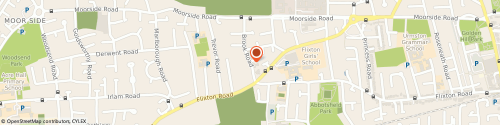 Route/map/directions to Alcoholics Anonymous, M41 5RQ Urmston, Brook Road, Methodist Church, Brook Rd
