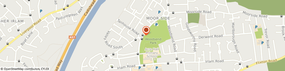Route/map/directions to Trafford Healthcare Nhs Trust, M41 8BH Urmston, WOODSEND CLINIC, WOODSEND CRESCENT ROAD