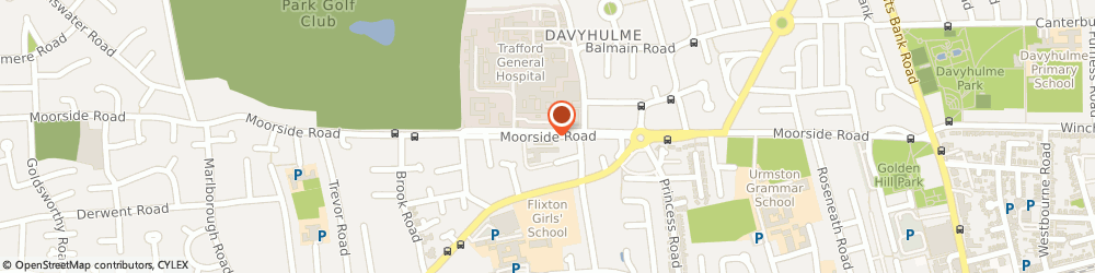 Route/map/directions to Patricias, M41 5SJ Manchester, 173 Moorside Road