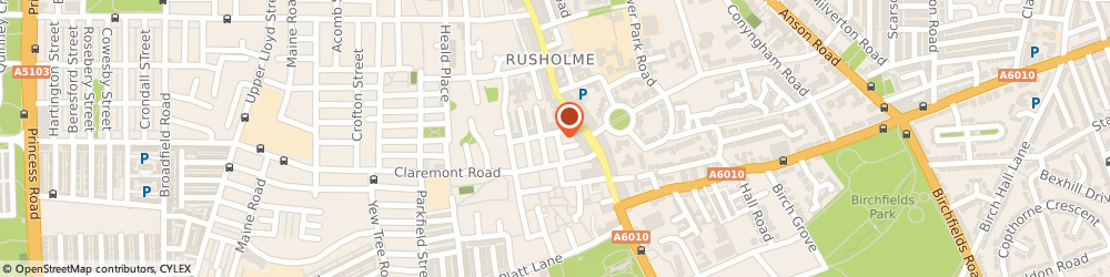 Route/map/directions to Detox Therapy, M14 5WS Manchester, 7 Grandale St