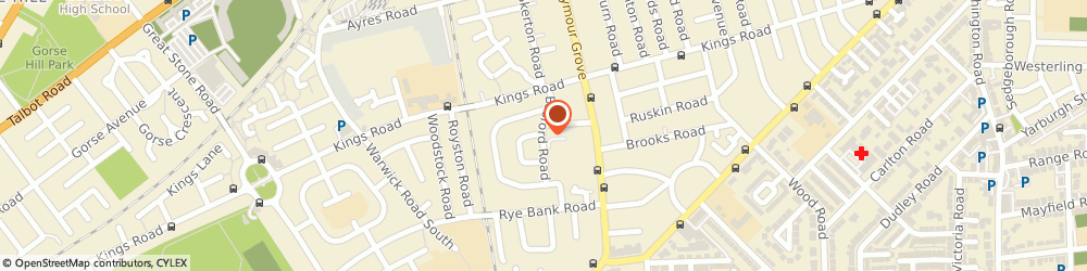 Route/map/directions to Rixton Court, Manchester, M16 0ET Manchester, Basford Road