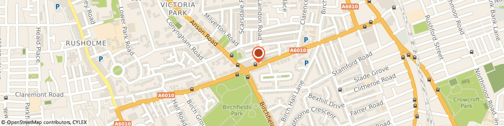 Route/map/directions to Sales & Repairs, M13 0YN Manchester, 183 Dickenson Rd