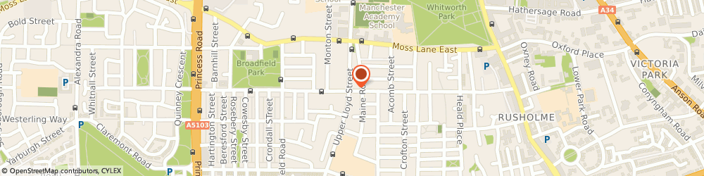 Route/map/directions to Lloyd Street Carpets, M14 4LG Manchester, 221, Great Western St