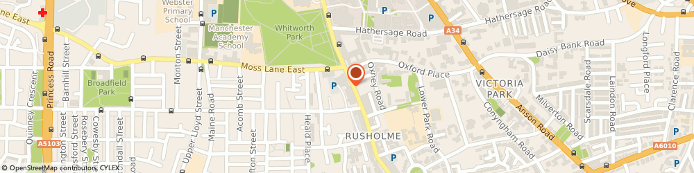 Route/map/directions to Mail Boxes Etc. Rusholme, M14 5TP Manchester, 6 Wilmslow Rd