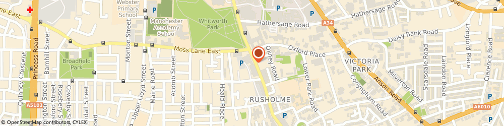 Route/map/directions to Mail Boxes Etc., M14 5TP Manchester, 6 Wilmslow Road