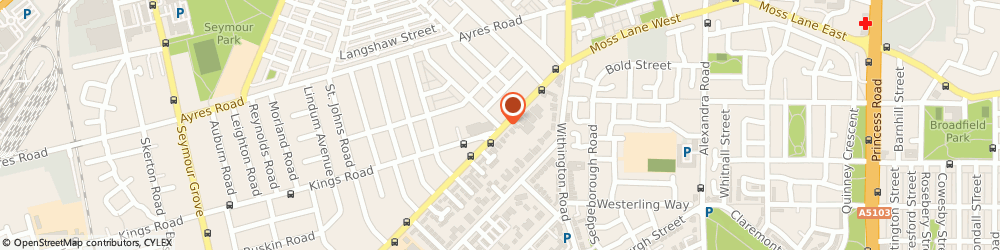 Route/map/directions to Barnes d Carpet Warehouse, M16 9WD Manchester, 81A Darnley St