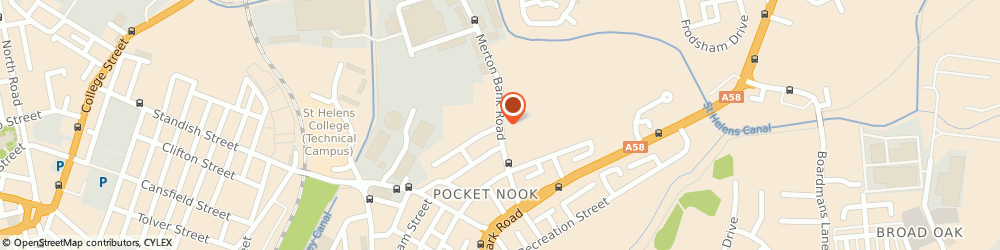 Route/map/directions to N Brookes, WA9 1EA St Helens, 67-99 Merton Bank Rd