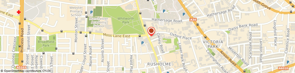 Route/map/directions to Atlas Launderette & Dry Cleaning, M14 5TP Manchester, 10B Wilmslow Rd