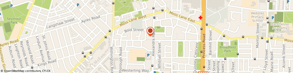 Route/map/directions to BLESSING TRAVEL LIMITED, M16 7AL Manchester, 11 Bland Street