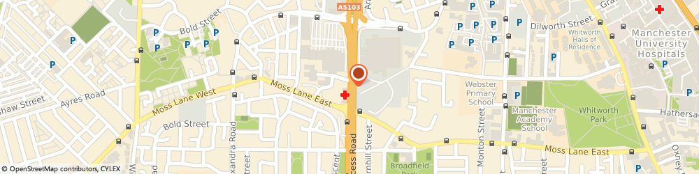 Route/map/directions to Manchester Sport Medicine Clinic, M15 5AT Manchester, 120 Princess Road