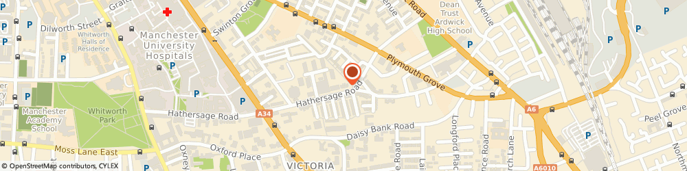 Route/map/directions to Homes2share.co.uk, M13 0FE Manchester, 32 Hathersage Rd