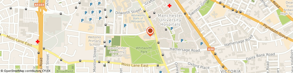 Route/map/directions to Zwemmer Holdings Co. Ltd, M15 6ER Manchester, OXFORD ROAD, WHITWORTH ART GALLERY