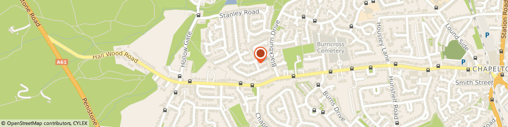 Route/map/directions to Brookes Builders, S35 2QL Sheffield, 17 Wharfedale Dr