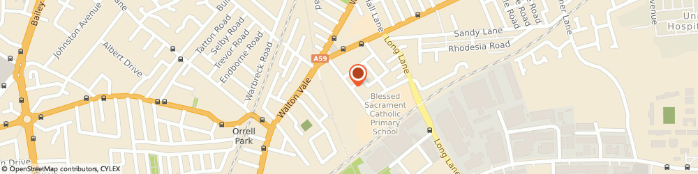 Route/map/directions to Blessed Sacrament Junior School, L9 9AF Liverpool, Cedar Road