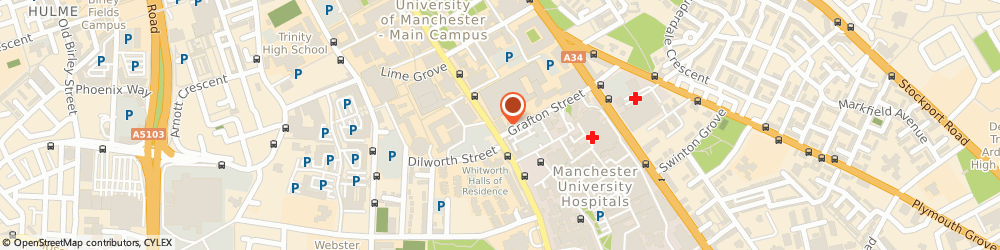 Route/map/directions to COSTA COFFEE, M13 9BL Manchester, 399-401 Oxford Rd