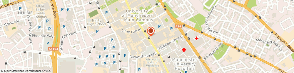Route/map/directions to Christie's Bistro, M13 9PL Manchester, Oxford Rd