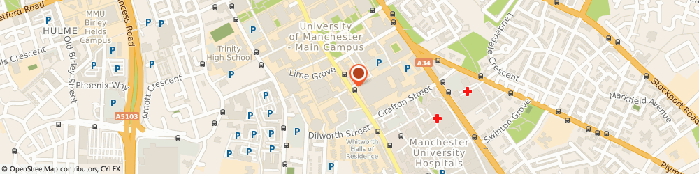 Route/map/directions to Cel Centre Of Educational Leadership Manchester, M13 9PL Manchester, University Of Manchester, Oxford Rd