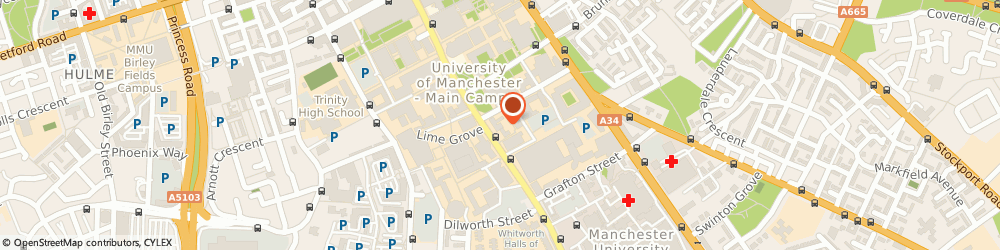 Route/map/directions to Small World Cafe (Gtr Manchester) Ltd, M13 9PG Manchester, WILLIAM KAY HOUSE, 327 OXFORD ROAD