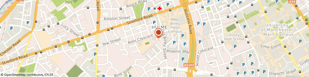 Route/map/directions to Manchester CAB - Hulme, M15 5FS Manchester, CLAREMONT RESOURCE CENTRE, ROYCE ROAD