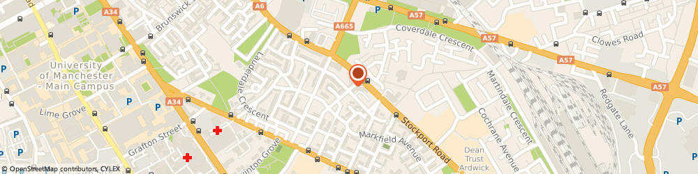 Route/map/directions to Simba's Foods Ltd, M13 9HP Manchester, 17 Guide Post Rd