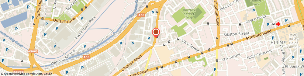 Route/map/directions to Taxis Manchester Airport, M16 9EB Manchester, Empress Business Centre, 380 Chester Road