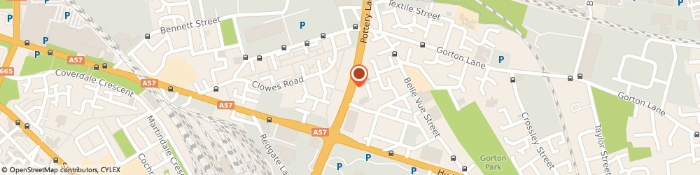 Route/map/directions to Northern Rail - Ashburys station, M12 5BY Manchester, Pottery Lane