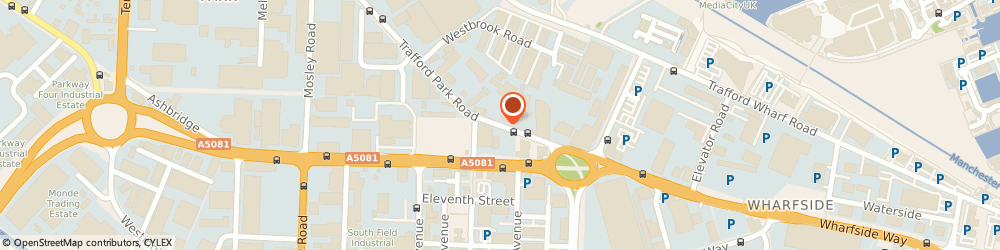 Route/map/directions to Anglo Abrasives Ltd, M17 1HP Manchester, TRAFFORD PK RD, 17