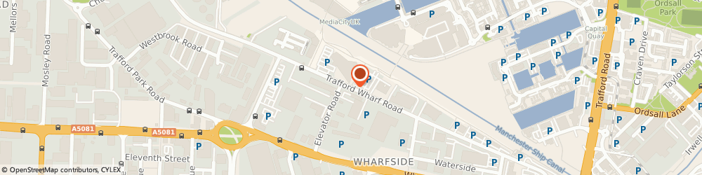 Route/map/directions to Kratos Analytical Ltd, M17 1GP Manchester, Trafford Wharf Rd