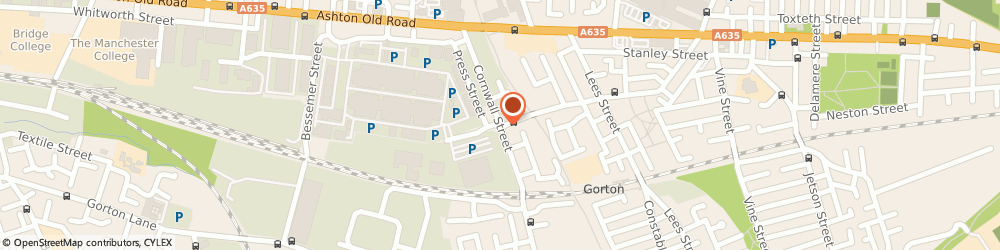 Route/map/directions to Cpl Distribution, M11 2NR Manchester, THE COAL YARD, CORNWALL ST, 11
