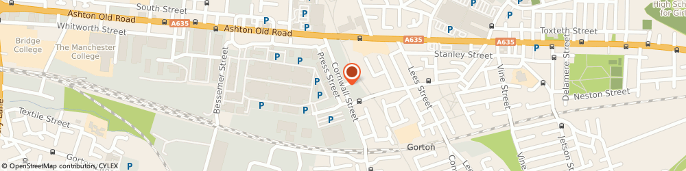 Route/map/directions to Cpl British Fuels, M11 2NR Manchester, COAL DEPOT CORNWALL STREET