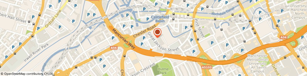 Route/map/directions to Manchester Carers' Forum, M15 4AX Manchester, Gaddum House, 6 Great Jackson Street