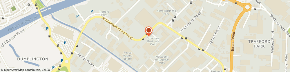 Route/map/directions to Tenmat Ltd, M17 1TD Manchester, ASHBURTON ROAD WEST