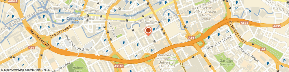 Route/map/directions to Manchester International Alliance, M1 5GL Manchester, Unit 9, The Quadrangle, Hulme Street