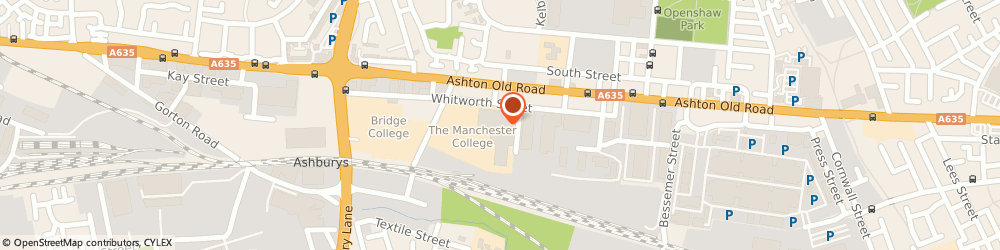 Route/map/directions to The Manchester College, M11 2WH Manchester, Ashton Old Rd, Openshaw Campus